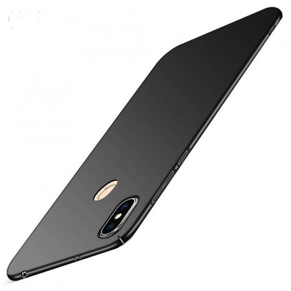 Xiaomi Mi Mix 2S Kılıf Pc Rubber Soft Mat Kılıf Sert Silikon Siya