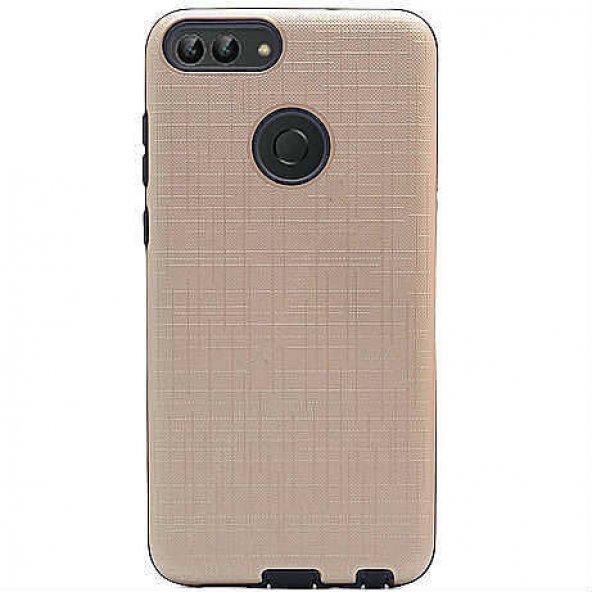 Huawei P Smart Kılıf Youyou Kılıf Hard Kılıf Altın