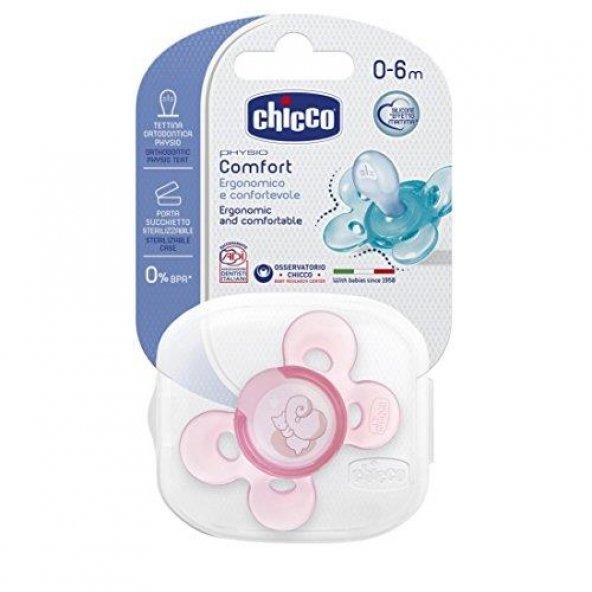 CHICCO 7491111 Emzik Silikon 0-6m Kız Tekli*