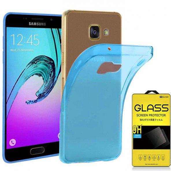For Samsung Galaxy A5 2017 Kılıf 0,2 mm Clear Tpu Silikon Mavi