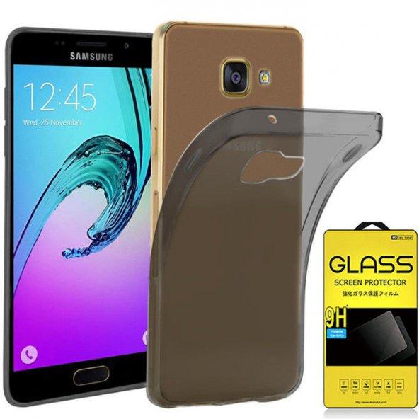 For Samsung Galaxy A3 2017 Kılıf 0,2 mm Clear Tpu Silikon Antrasi