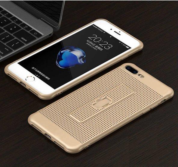 For Samsung Galaxy J5 Kılıf 2017 Yüzük Tutuculu Dot Silikon Altın