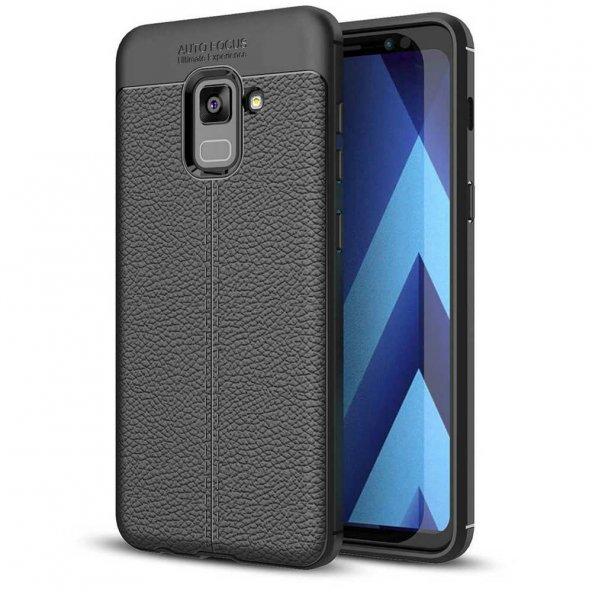 For Samsung Galaxy A8 Kılıf 2018 Dermo Silikon Siyah