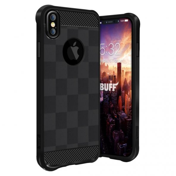 Buff iPhone X Black Armor Kılıf