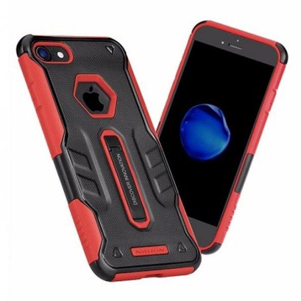 Nillkin Defender iPhone X Kılıf Ultra Koruyucu Hard Case Kırmızı
