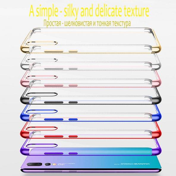 iPhone 8 Kılıf Dört Köşeli Lazer Silikon