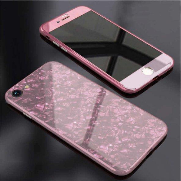 iPhone 6 Kılıf Voero Desenli 360 Magnet Case Rose Gold