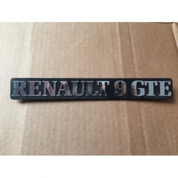 Renault 9 Gte Yazısı