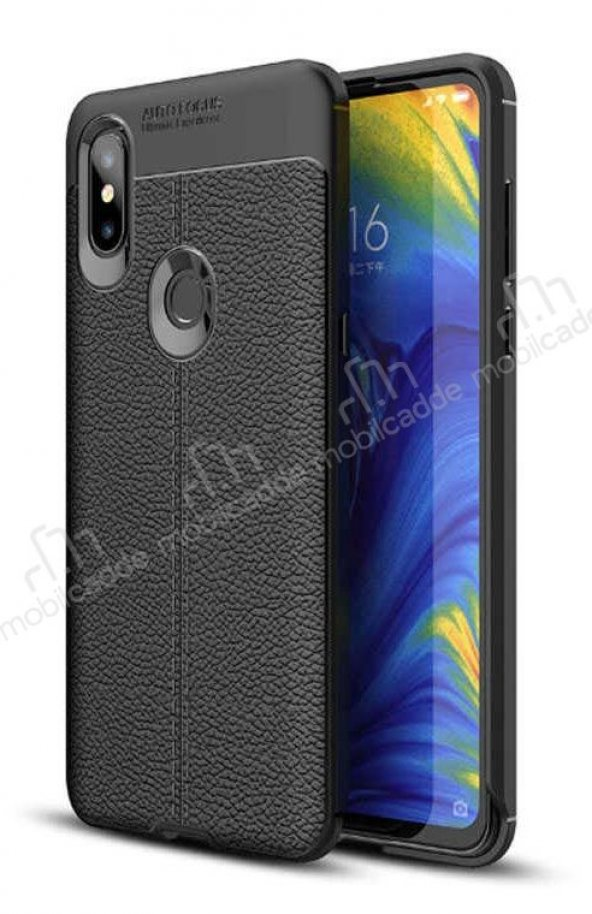 Dafoni Liquid Shield Premium Xiaomi Mi Mix 3 Siyah Silikon Kılıf
