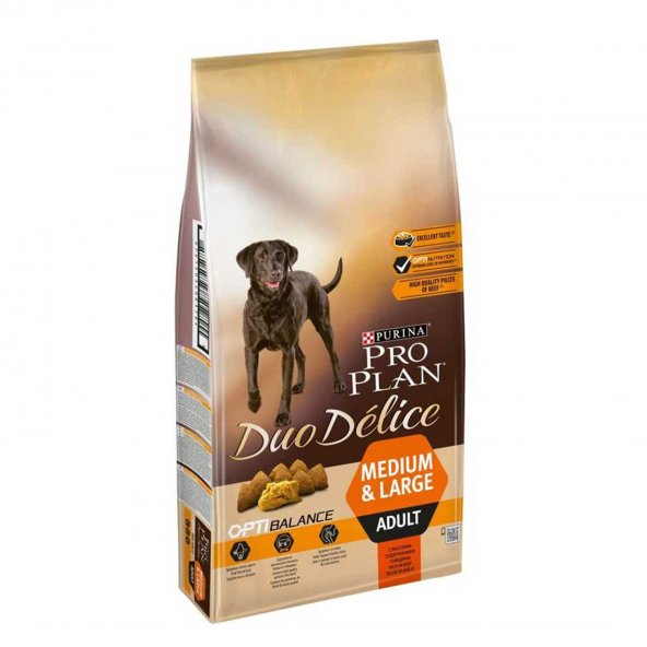 Pro Plan Duo Delice Taze Parça Etli Yetişkin Köpek Maması 10 Kg