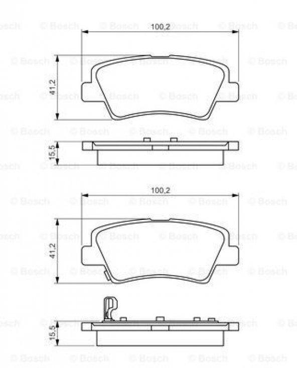 Hyundai i30 1.6 2011-2015 Bosch Arka Balata