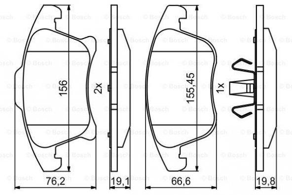 Ford Mondeo 1.5 TDCi 2015-2019 Bosch Ön Fren Balatası