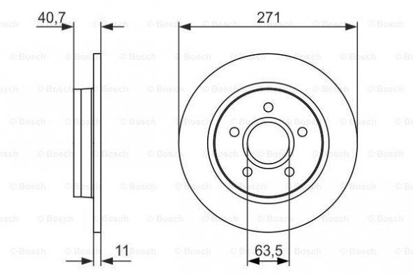 Ford Focus 1.6 2011-2014 Bosch Arka Fren Diski  2 Adet