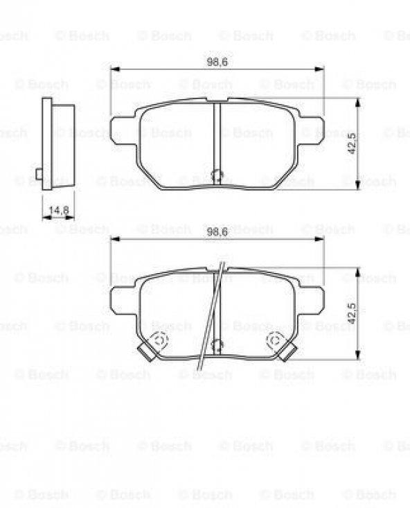 Toyota Corolla 1.6 2006-2018 Bosch Arka Balata
