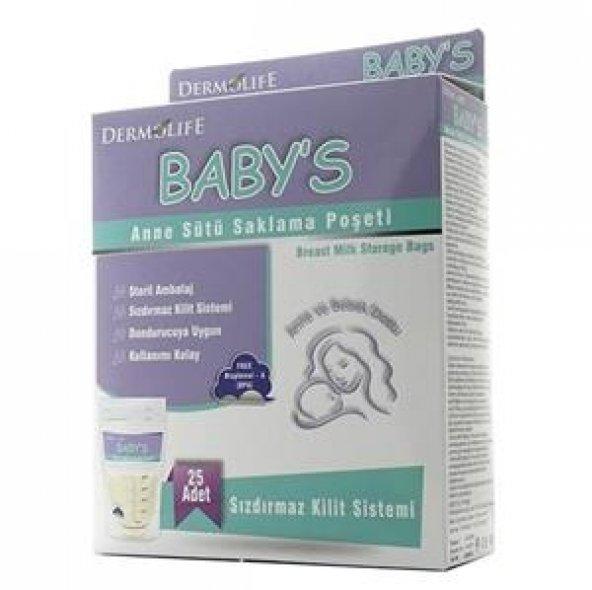 DERMALIFE Süt Saklama Poşeti Babys