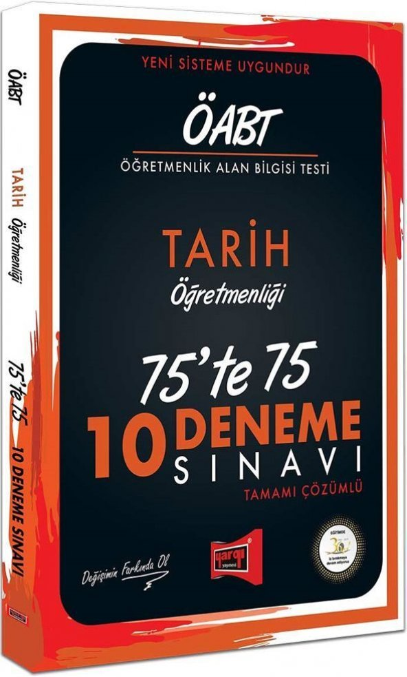 Yargı Yayınları ÖABT Tarih Öğretmenliği 75te 75 10 Deneme Sınavı