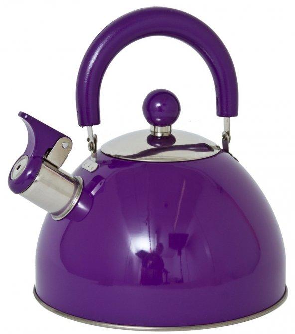 Lifetime Cooking Düdüklü Çaydanlık Paslanmaz Çelik 2.5 Lt. Mor