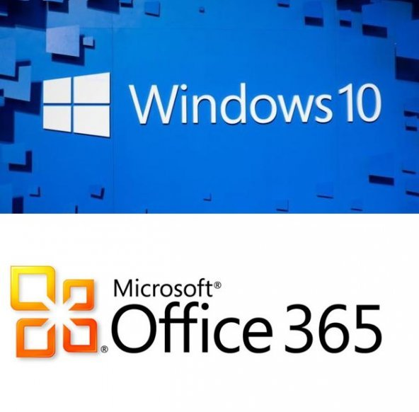 Windows 10 Pro & Microsoft Office 365 5 Kullanım 1 TB OneDrive