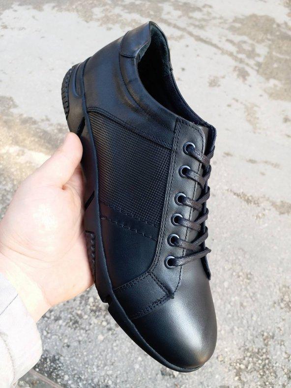 New Prato Erkek Ayakkabı 093-Siyah Antik Deri