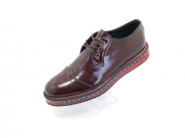 New Prato Erkek Ayakkabı 101-Kahve Rogan Deri