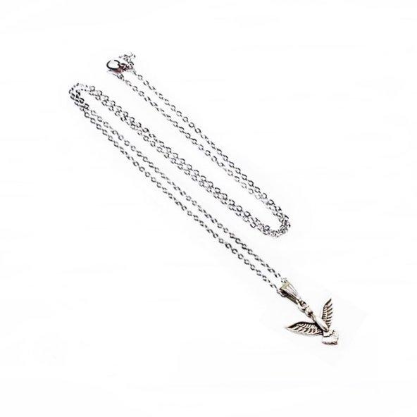Albatros Kuşu Tasarım Erkek Kolye