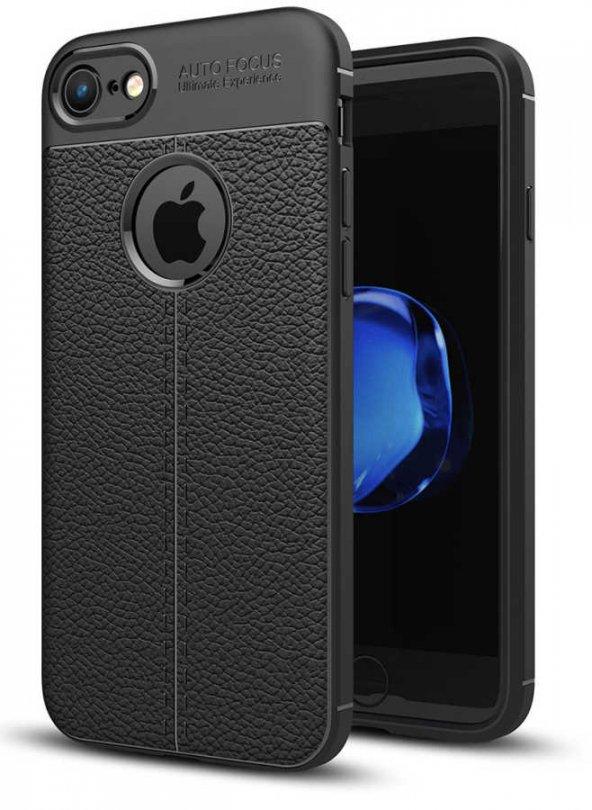 Apple iPhone 6-6s Kılıf Niss Silikon Kapak Deri Görünümlü