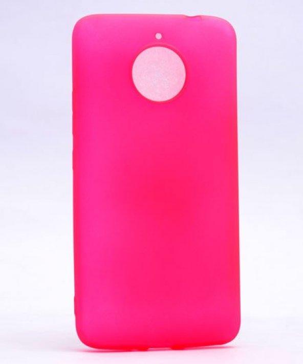 Motorola Moto E4 Plus Kılıf Silikon Premium Kapak Pembe + Ekran K