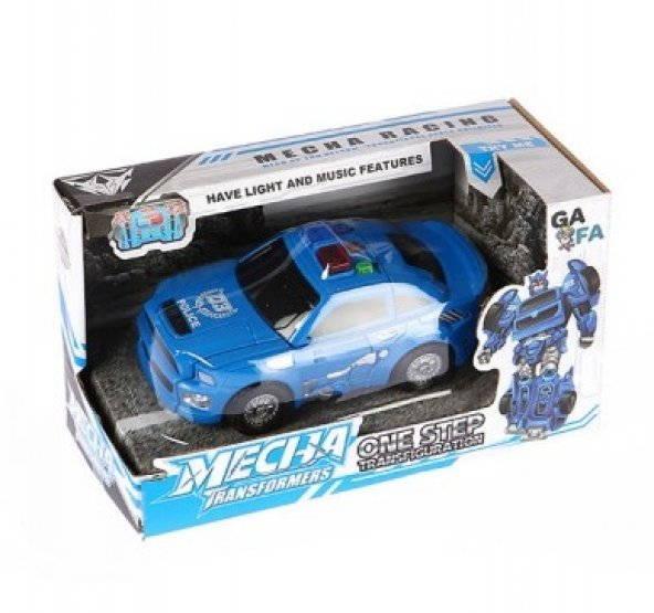 Transformers Tek Adımda Dönüşen Mavi Mecha