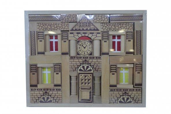 Ahşap Ev Blokları 58 Parça