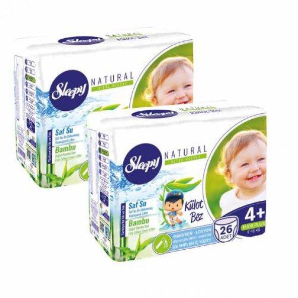 Sleepy Külot Bebek Bezi Maxı Plus 4+ Beden 26 Lı 9-16 Kg 2 Set