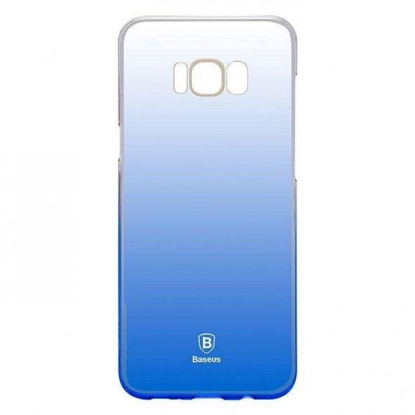 Baseus Glaze Samsung Galaxy S8 Mavi Kılıf Arka Koruyucu Kapak