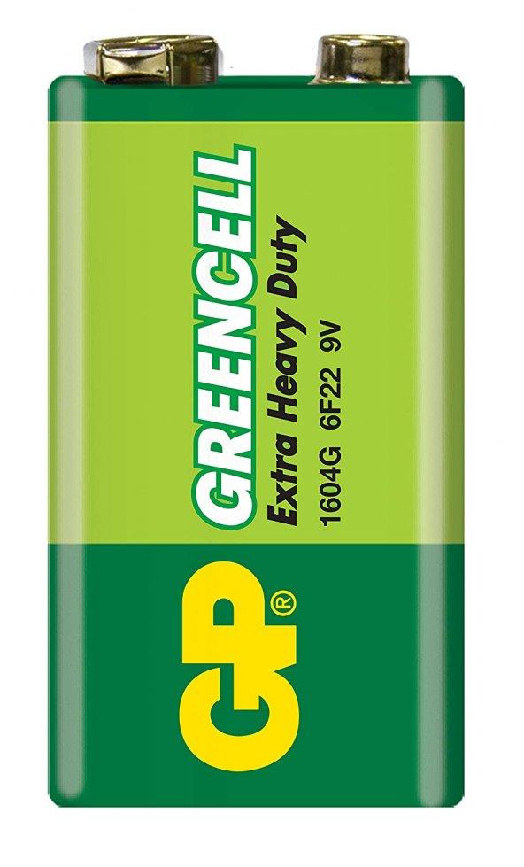 GP 1604GLF GREENCELL 9V SHİRİNK TEKLİ PİL