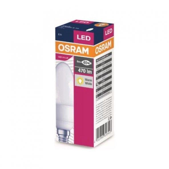 Osram 5.7 Watt 470 Lumen Sarı Işık Mum Buji E-14 Duy Led Ampul