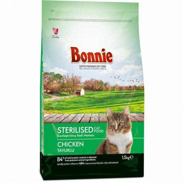 Bonnie Tavuklu Kısırlaştırılmış Kedi Maması 1,5 Kg