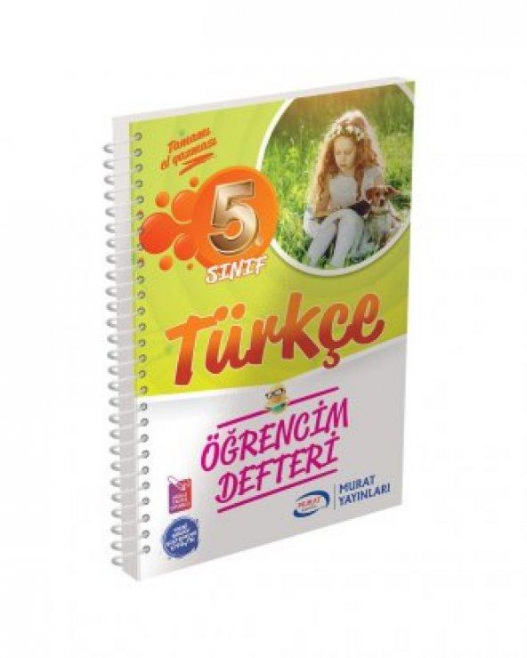 Murat Yayınları 5. Sınıf Türkçe Öğrencim Defteri