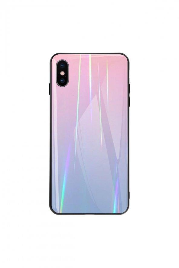 iPhone XS Kılıf Aurora Pembe