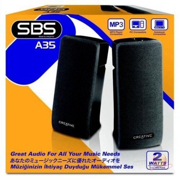 Creative 51MF1630AA000 SBS A35 2W 2.0 Hoparlör