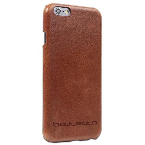 Bouletta Arka Kapak iPhone 6/6S Deri Telefon Kılıfı RST2 Taba