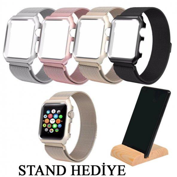 Apple Watch Series 4 GPS 40mm 40 Mm Kordon Kılıf Metal Kapak