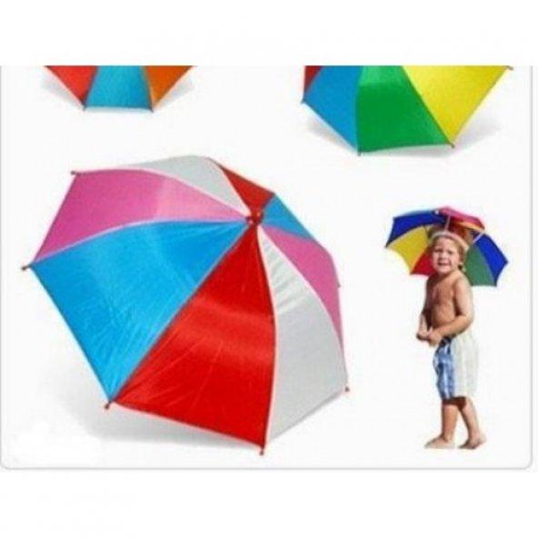 Kafaya Takılan Şapka Şemsiye