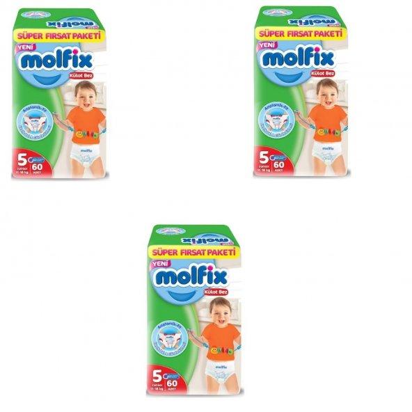 Molfix Süper Fırsat Paket Külot No:5 (11-18kg) 60 Adet 3LÜ SET