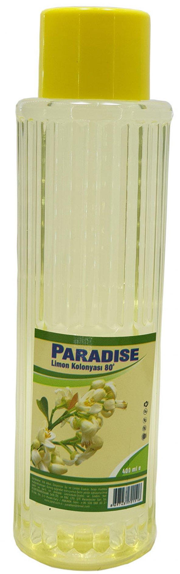 Paradise limon kolonya 400 ml 80 drc