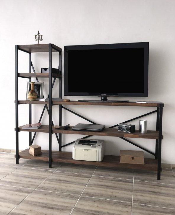 Masif Ahşap Tv Ünitesi 180 cm T009
