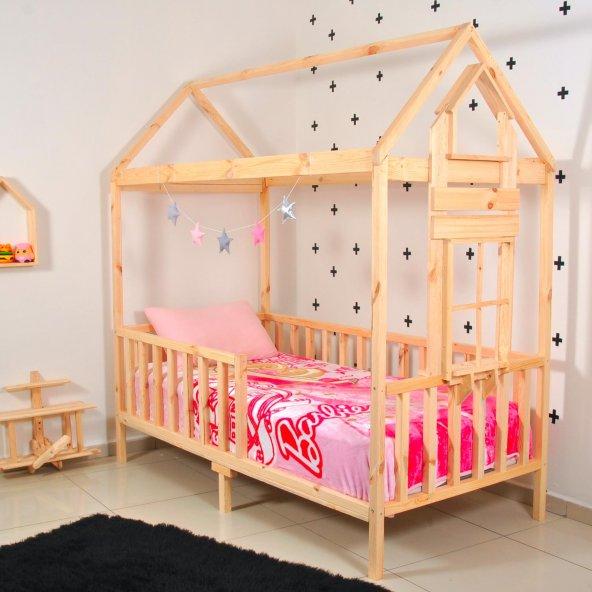 Montessori Yatak Çocuk 90X190 Karyola Bebek Beşik Oyun Alanı