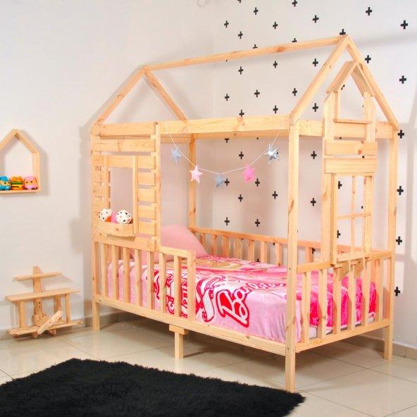 Montessori Yatak Pencereli Çocuk Odası 90X190 Bebek Beşik