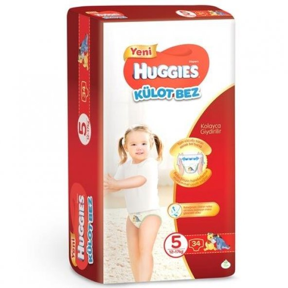 HUGGIES Pants Bebek Bezi 12-17kg Junior No:5 Unisex 34lu