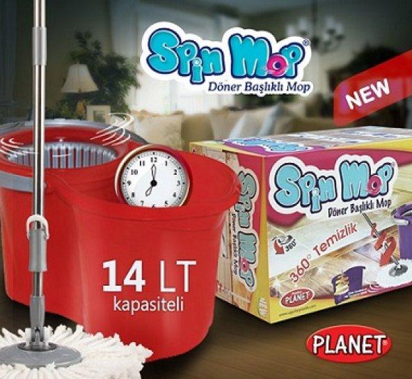 14 LT Spin Mop Mini Eco Temizlik Seti 360 derece dönebilen başlık