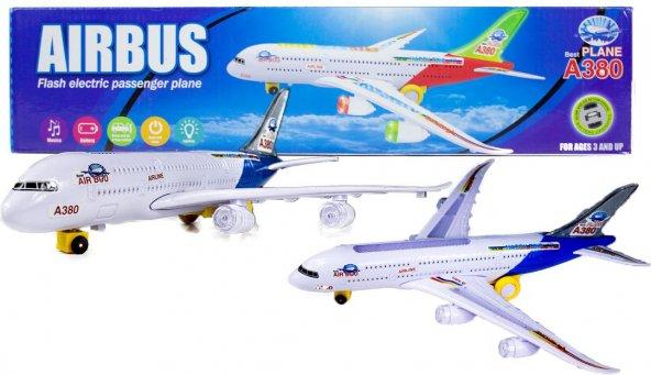 T.H.Y Airbus A380 Oyuncak Uçak Küçük Boy Işıklı Sesli