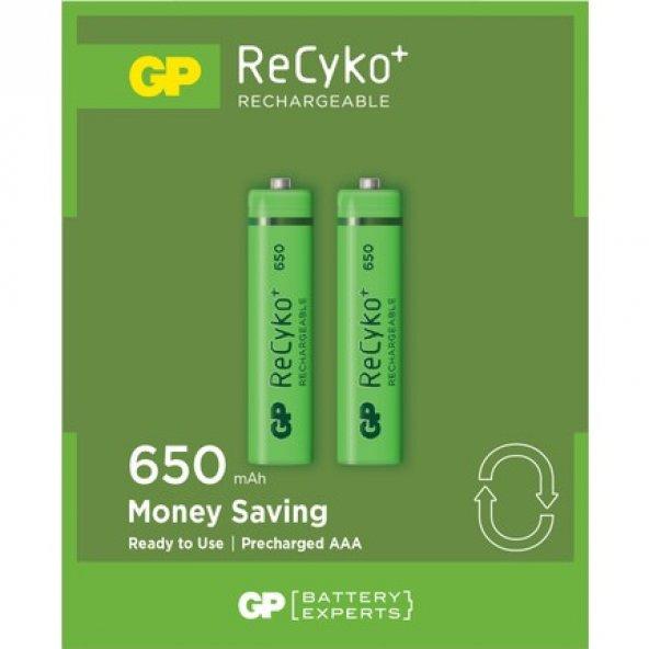 Gp Power 2'li ReCyko 650 Serisi Şarjedilebilir AAA İnce Pil