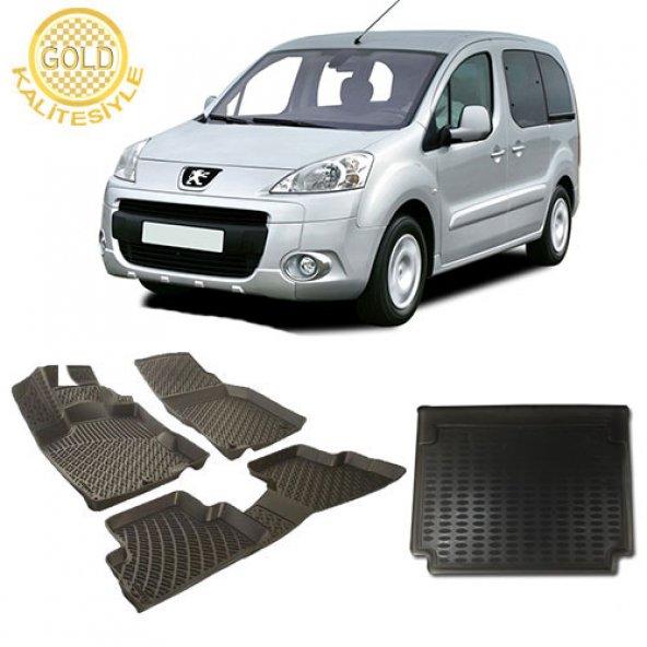 Peugeot Partner 3D Havuzlu Paspas ve Bagaj Havuzu 2008-2015